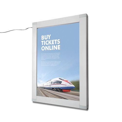 Rám na plakáty Nik s LED osvětlením, A2 - Prodloužená záruka na 10 let