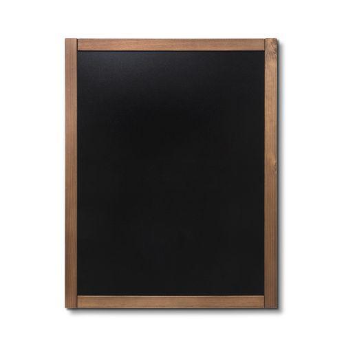 Křídová tabule Classic, teak, 70 x 90 cm