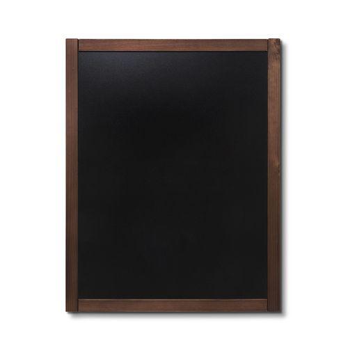 Křídová tabule Classic, tmavě hnědá, 70 x 90 cm