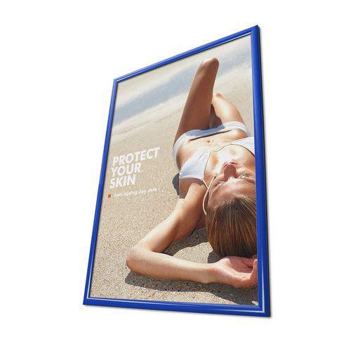 Rám na plakáty P25, ostré rohy, modrý, B2 - Prodloužená záruka na 10 let