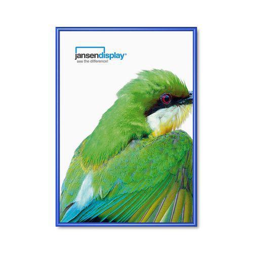 Rám na plakáty P25, ostré rohy, modrý, A0 - Prodloužená záruka na 10 let