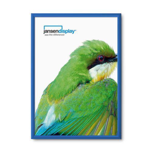 Rám na plakáty P25, ostré rohy, modrý, A1 - Prodloužená záruka na 10 let
