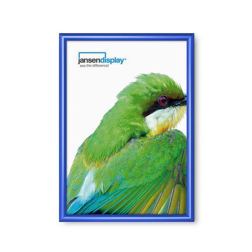 Rám na plakáty P25, ostré rohy, modrý, A2 - Prodloužená záruka na 10 let