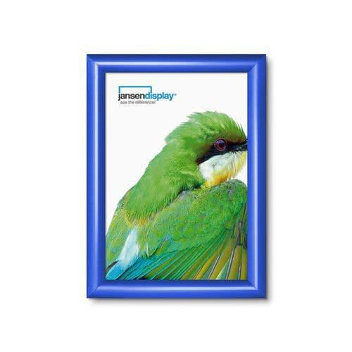 Rám na plakáty P25, ostré rohy, modrý, A4 - Prodloužená záruka na 10 let