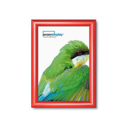 Rám na plakáty P25, ostré rohy, červený, A4 - Prodloužená záruka na 10 let