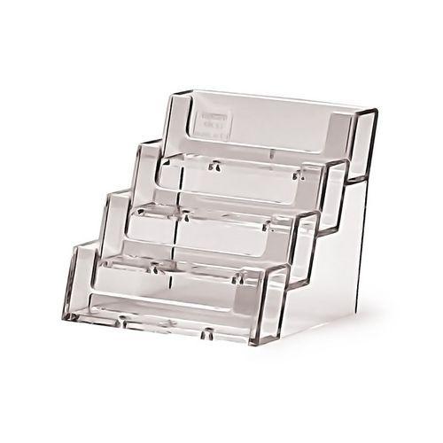 Plexi stojánek na vizitky JD1, 4 kapsy