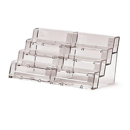 Plexi stojánek na vizitky JD3, 8 kapes