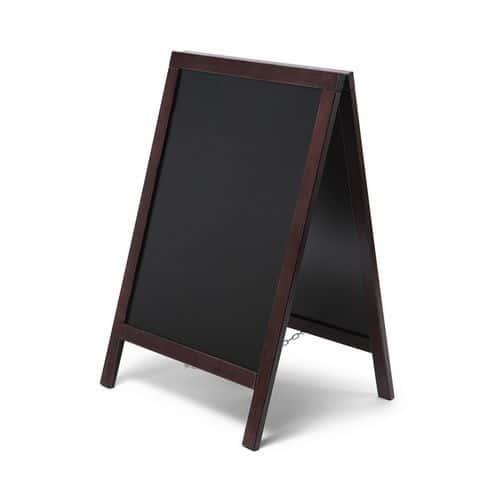 Reklamní křídová tabule A, tmavě hnědá
