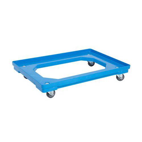 Pojízdná plošina, do 120 kg, modrá