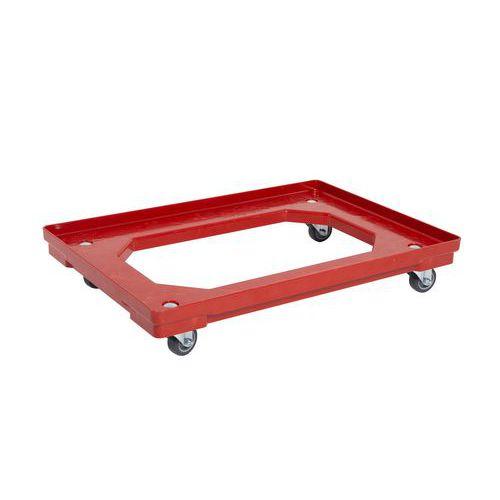 Pojízdná plošina, do 120 kg, červená