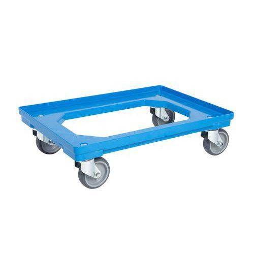 Pojízdná plošina, do 300 kg, modrá