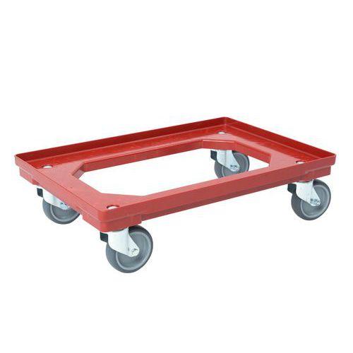 Pojízdná plošina, do 300 kg, červená