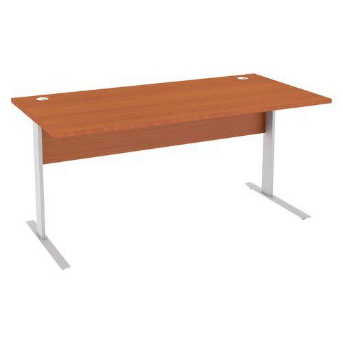 Kancelářský stůl Abonent, 160 x 80 x 75 cm, rovné provedení, dezén třešeň Oxford