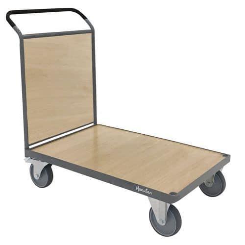 Plošinový vozík Manutan s madlem s plnou výplní, do 500 kg, 95 x