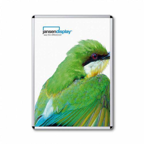 Jansen Display Rám na plakáty P32, oblé rohy, stříbrný, A0 - Prodloužená záruka na 10 let