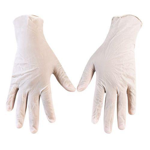 Jednorázové vinylové rukavice Manutan Merlin, bílé