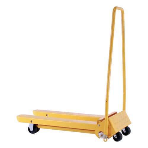 Skládací paletový vozík, do 300 kg, nylonová řídicí kola