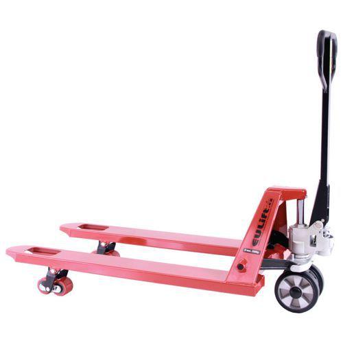Paletový vozík se širokým rozchodem, do 2 500 kg, gumová řídicí kola