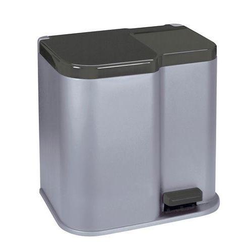 Plastový odpadkový koš Duo, objem 21 l