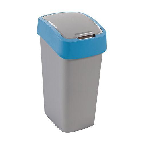 Plastový odpadkový koš Pacific, objem 50 l, stříbrný/modrý