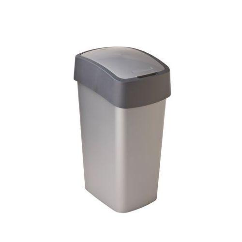 Plastový odpadkový koš Pacific, objem 50 l, stříbrný/šedý