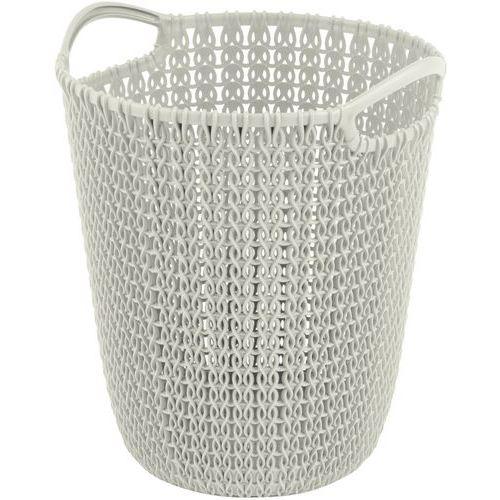 Plastový odpadkový koš Braid, objem 7 l, bílý