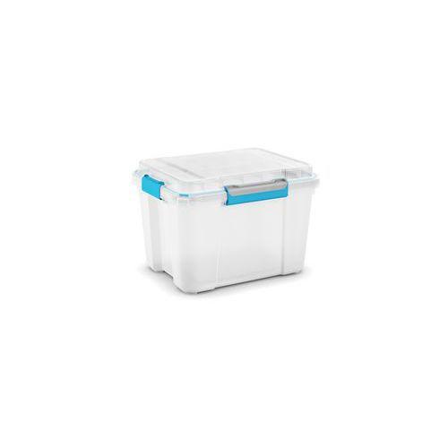 9c26800f8 Plastový úložný box s víkem na klip, průhledný, 43 l