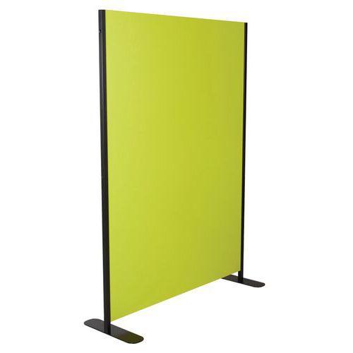 Paraván Manutan Colibri, 120 x 160 cm, světle zelený