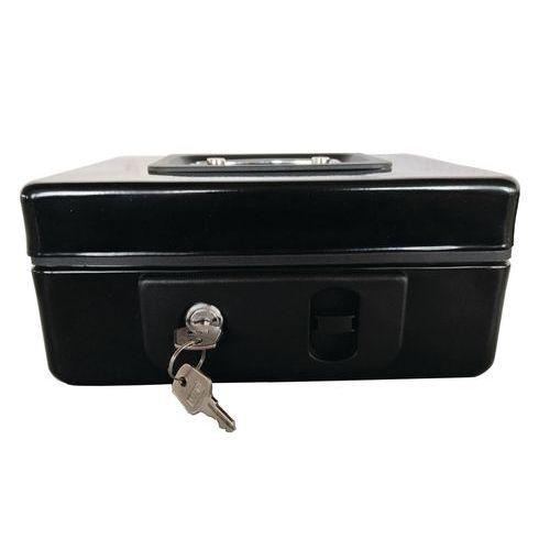 Přenosná pokladna Coinbox, 3 přihrádky, 15 x 20 x 9 cm
