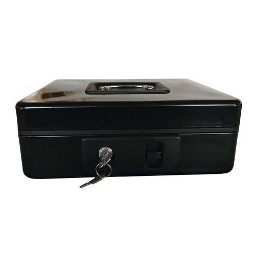Přenosná pokladna Coinbox II, 3 přihrádky, 20 x 25 x 9 cm