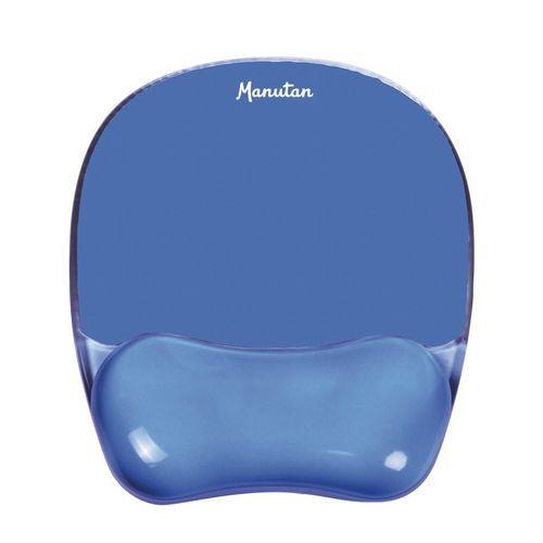 Gelová podložka Manutan pod myš, modrá
