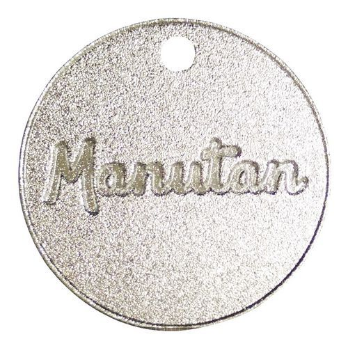 Hliníkový žeton Manutan, průměr 30 mm, číslovaný 201 - 300