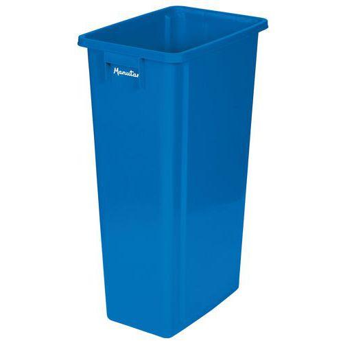Plastový odpadkový koš Manutan Select na tříděný odpad, modrý