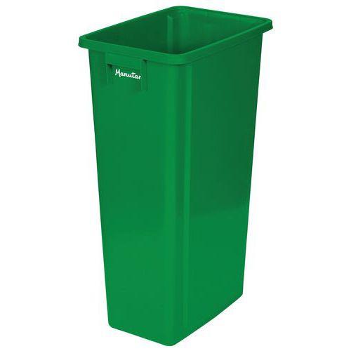 Plastový odpadkový koš Manutan Select na tříděný odpad, zelený
