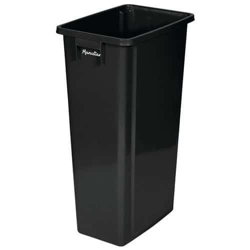 Plastový odpadkový koš Manutan Select na tříděný odpad, černý