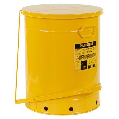 Kovové odpadkové koše pro hořlavé a nebezpečné látky, objem 79 l
