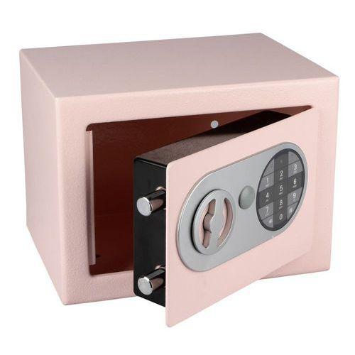 Nábytkový trezor s elektronickým zámkem, růžový