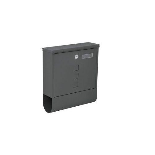Kovová poštovní schránka Dalas s okénky a tubusem, ocelová, antr
