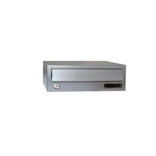 Modulová kovová poštovní schránka Slim, stříbrná