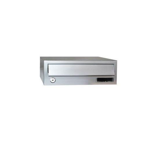 Modulová kovová poštovní schránka Slim, stříbrná nerezové čelo