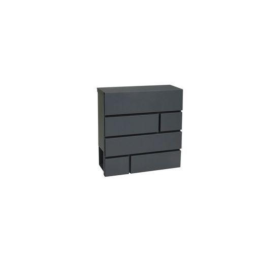 Kovová poštovní schránka Brick, antracit