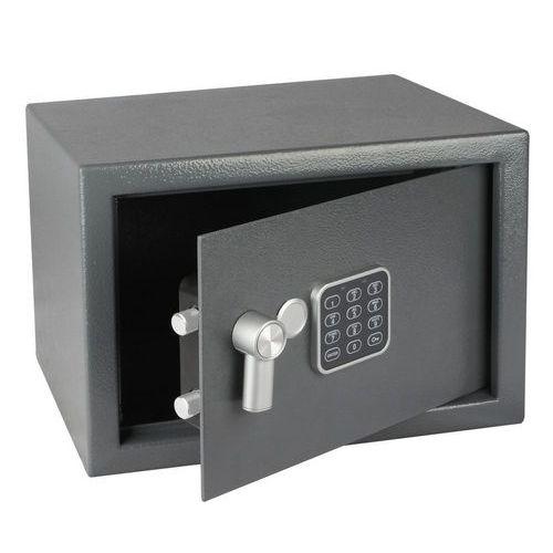 Nábytkový trezor s elektronickým zámkem, číselnou klávesnicí a páčkou k otevření, 250 x 350 x 250 mm