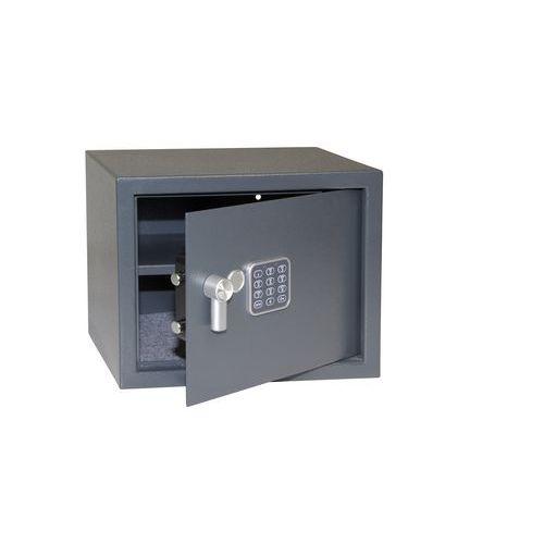 Nábytkový trezor s elektronickým zámkem, číselnou klávesnicí a páčkou k otevření, 300 x 380 x 300 mm