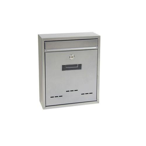 Kovová poštovní schránka Step s okénky, stříbrná