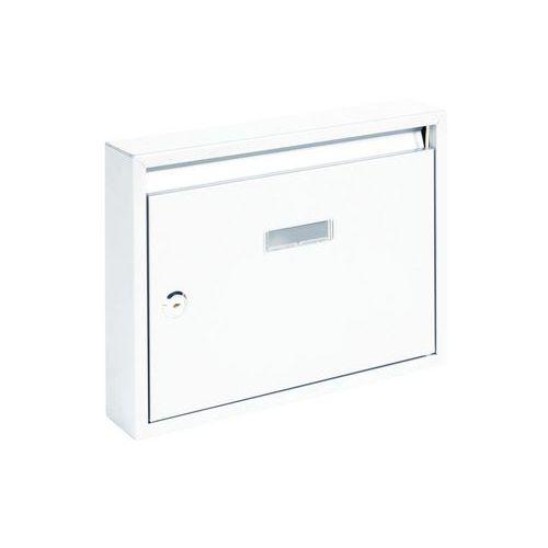 Modulová kovová poštovní schránka Trade, bílá