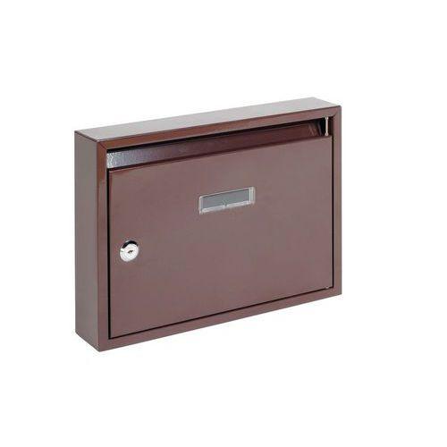 Modulová kovová poštovní schránka Trade, hnědá