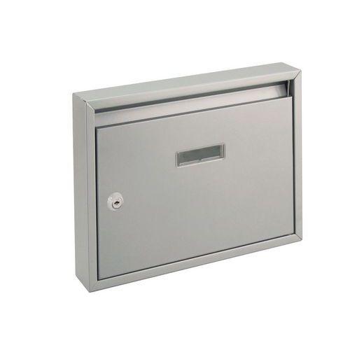 Modulová kovová poštovní schránka Trade, stříbrná