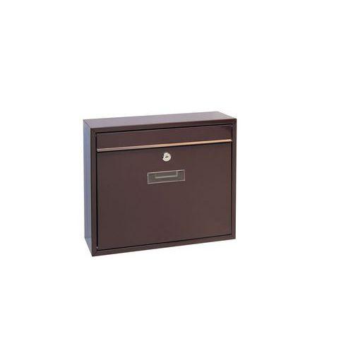 Modulová kovová poštovní schránka Casal, hnědá