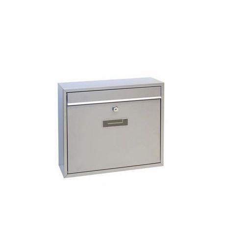 Modulová kovová poštovní schránka Casal, stříbrná