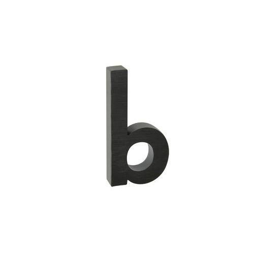 Hliníková čísla v 3D provedení s broušeným povrchem, černá